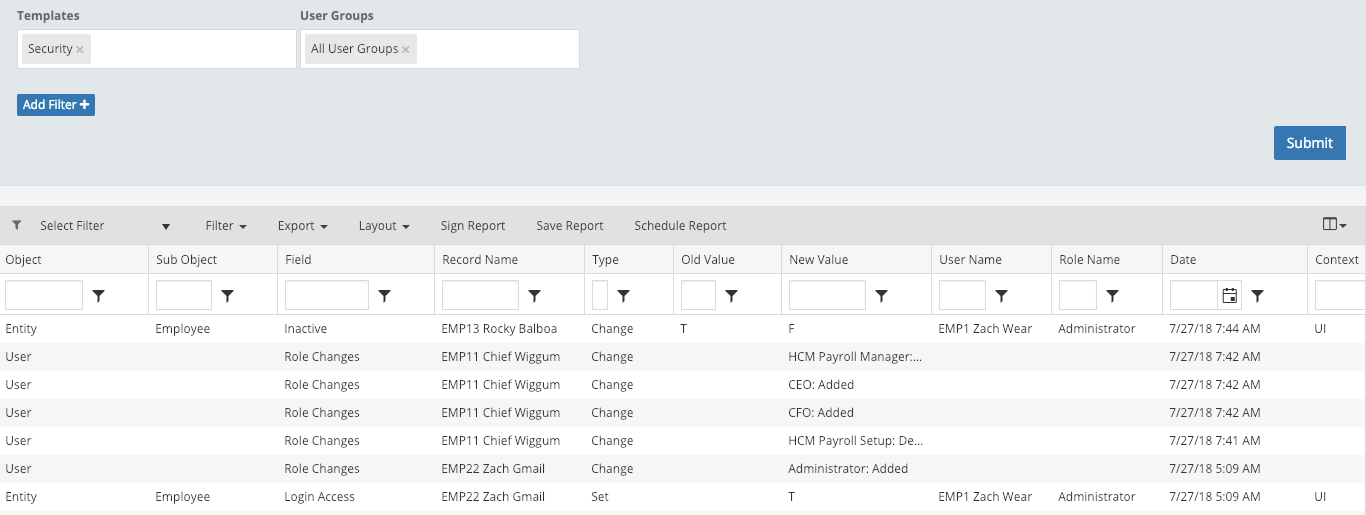 Security Changes in Fastpath Assure