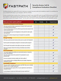 GRC Evaluation Checklist