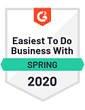 Spring 2020 - easiest to do business with